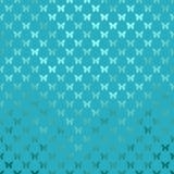 Metaalfaux de Folievlinder van Teal Blue Butterflies Polka Dot Royalty-vrije Stock Fotografie