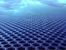 Metaalgat onder dichtbijgelegen lens stock illustratie