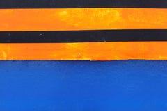 Metaalgrond met oranje zwarte strepen Royalty-vrije Stock Fotografie