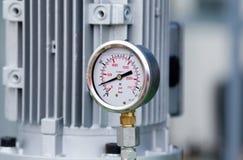 Metaalmanometer stock foto
