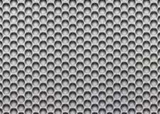 Metaalnetwerk, het geperforeerde close-up van de ijzertextuur Achtergrond voor des vector illustratie