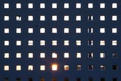 Metaalomheining met backlight Stock Foto