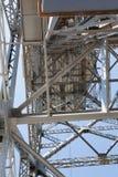 Metaalontwerp van een toren van een ropeway weg royalty-vrije stock fotografie