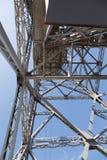 Metaalontwerp van een toren van ropeway royalty-vrije stock foto's