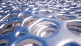 Metaaloppervlakte met grote gaten stock videobeelden