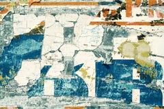 Metaaloppervlakte met krassen en cementvlekken voor abstracte achtergronden Royalty-vrije Stock Foto's