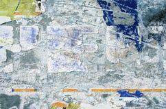 Metaaloppervlakte met krassen en verfresidu's voor abstracte achtergronden Stock Afbeeldingen