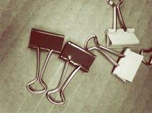 metaalpaperclippen Stock Fotografie