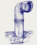 Metaalperiscoop boven het water Royalty-vrije Stock Foto's