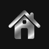 Metaalpictogram - huis vector illustratie