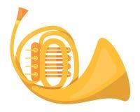 Metaalpijp, muziekbuis Wind klassiek metaal muzikaal instrument stock illustratie