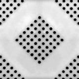 Metaalplaat met vele kleine cirkelgaten Stock Fotografie