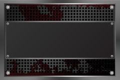 Metaalplaten met de achtergrond van de roesttextuur Stock Fotografie