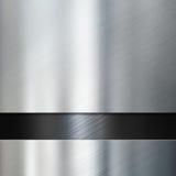 Metaalplaten over zwarte metaal 3d illustratie als achtergrond Stock Afbeelding