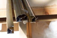 Metaalprofiel voor meubilairproductie Stock Fotografie
