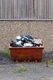 Metaalskip voor diy vuilnis en troep royalty-vrije stock afbeeldingen