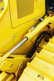 Metaalsporen op de tractor Royalty-vrije Stock Afbeelding