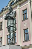Metaalstandbeeld Albrecht von Wallenstein in Frydlant Royalty-vrije Stock Fotografie