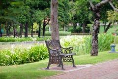 Metaalstoel Royalty-vrije Stock Fotografie