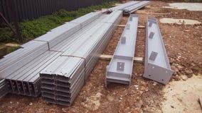 Metaalstralen voor gebruik in bouw stock foto's