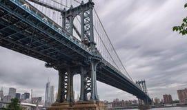Metaalstructuur van de Brug van Manhattan, de Stad van New York Stock Afbeelding