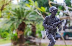 Metaalstuk speelgoed militair Royalty-vrije Stock Foto