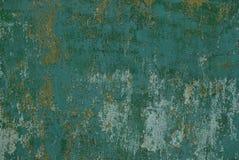 Metaaltextuur van het oude grijze groene geraspte stuk van ijzer Royalty-vrije Stock Afbeeldingen