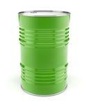 Metaalvat voor olie of benzineopslag Stock Foto