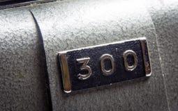 300 metaalzegel Royalty-vrije Stock Afbeelding