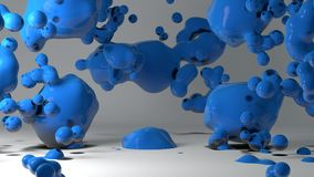 Metaball Background Royalty Free Stock Photo