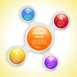 Metaball bubble  infographic Royalty Free Stock Photos
