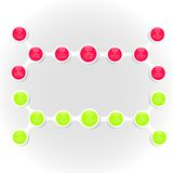 Metaball colorful round diagram infographics Stock Photo