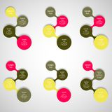 Metaball colorful round diagram infographics Stock Photography