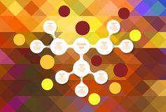Metaball colorful round diagram infographics Royalty Free Stock Images