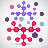 Metaball colorful round diagram infographics Stock Photos