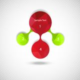 Metaball colorful round diagram infographics Royalty Free Stock Photo
