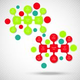 Metaball colorful round diagram infographics Royalty Free Stock Image