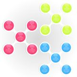 Metaball colorful round diagram infographics Royalty Free Stock Photography