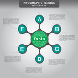 Metaball colorful symmetric diagram infographics Royalty Free Stock Image