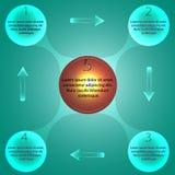 Metaball di Infographic Fotografie Stock Libere da Diritti