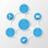 Metaball diagram. Infographic elements Royalty Free Stock Image