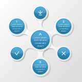 Metaball diagram. Infographic elements. Vector illustration Royalty Free Stock Photo