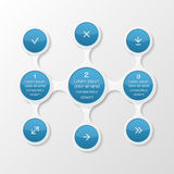 Metaball diagram. Infographic elements Stock Image
