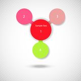 Metaball diagrama kolorowy round infographics Zdjęcia Royalty Free