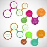 Metaball diagrama kolorowy round infographics Obraz Stock