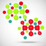 Metaball diagrama kolorowy round infographics Obraz Royalty Free