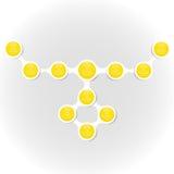 Metaball diagrama kolorowy round infographics Zdjęcie Stock