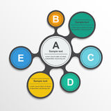 Metaball infographic elements in flat design Royalty Free Stock Photography