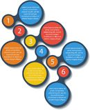 Metaball infographic elements. Vector. Royalty Free Stock Photos