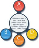 Metaball infographic elements. Vector. Stock Images